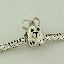 Mouse / Bunny Bead Sterling Silver Charm Fits Chamilia