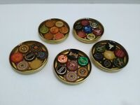 set of 5 drink cocktail drink coasters bottle caps beer barware cork pad shiner