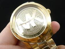 NEW OLD STOCK MICHAEL KORS RUNWAY MK5706 GOLD PLATED QUARTZ WOMEN WATCH
