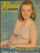 Radio &TV Mirror October 1941 Magazine 10th Superman in Radio serial with art.
