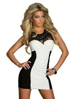 Women's Evening Party Cocktail bodycon mini Dress lace insert  Sizes  UK 8,10,12