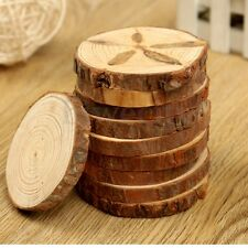 10pcs Round Wood Log Slice Natural Tree Bark For Table Decor Wedding Party