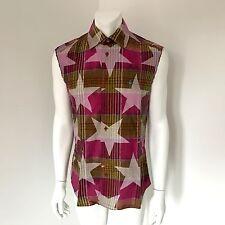 Very Rare Vivienne Westwood MAN Star Print Madras Sleeveless Shirt Size III UK M