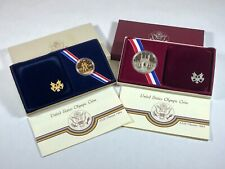 New listing 1984 Us Mint Olympic Commemorative Gold & Silver Proof-2 Coin Set