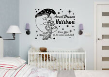 Personalised Nursery Kids Boys Love You to The Moon and Back Wall Art Sticker