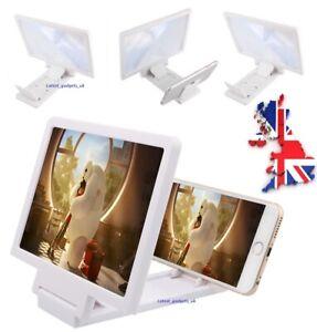 Universal White 3D Screen Enlarger Magnifier Amplifier Mobile Smart Phone/Video