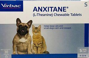 Virbac Anxitane S Dog & Cat Chewable tabs 50mg 30ct Helps Keep Pet Calm & Relax