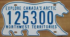 Northwest Territories 2011 HIGH NUMBER POLAR BEAR License Plate SUPERB # 125300