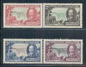 SOUTHERN RHODESIA 33-36 SG31-34 MH 1935 KGV Silver Jubilee set of 4 Cat$28