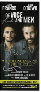 "James Franco, Chris O'Dowd, Meester Signed ""Of Mice And Men"" Broadway Play Flyer"