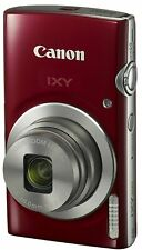 SALE Canon Compact Digital Camera Optical 8x Zoom IXY200 Red w/ Tracking