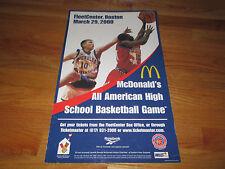 McDonald's All American High School Basketball Game Poster ZACH RANDOLPH MVP