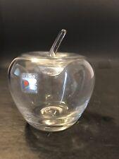 Vintage Blenko Art Glass Hand Blown Clear Apple Figure