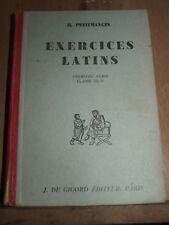 Petitmangin: Exercices latins, première série, Classe de 6ème/ De Gigord, 1950