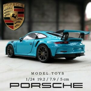 1:24 Porsche 911GT3 RS Sports Car Simulation alloy Car Model Crafts Collection