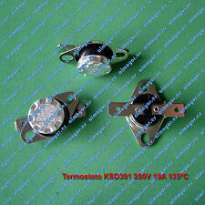Termostato KSD301 KSD302 250V 10A 135ºC contacto NC, Switch Thermostat