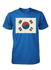 BNWT KOREAN SOUTH KOREA FLAG SEOUL  DISTRESSED PRINT ADULT T SHIRT S-XXL