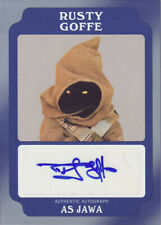 STAR WARS ROGUE ONE MISSION BRIEFING BLUE 11/25 GOFFE JAWA AUTOGRAPH A-RG