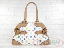 BIDSALEONLY!AUTHENTIC $2410 LOUIS VUITTON Claudia White Multicolore Monogram Bag