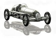 "Tether Car 1934 Mercedes Benz Silberpfeil Silver Arrow 12"" with Black Seat"