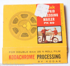 Kodak Prepaid Processing Mailer PK59 Kodachrome Ektachrome 8mm - VINTAGE D57