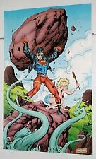 1990's DC Comics Universe 34 by 22 Superboy poster pin-up 1:Superman/Legion/1994