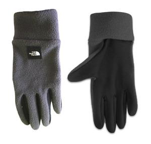NEW The North Face Men's Armadilla Fleece Gloves LARGE Glove Asphalt Grey TNF