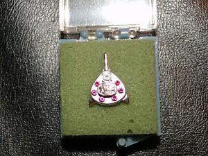TWA Service Pin with Diamond & 6 Rubies 10k