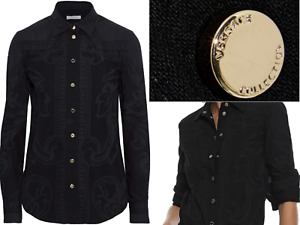 VERSACE COLLECTION MENS CULT ICON LUX PRINTED SHIRT HEMD LONG SLEEVED NEU 42 XXL