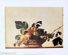 """Litografía offset CARAVAGGIO """"Cesto di frutta"""" 24x30cm Migneco-Smith 31343"""