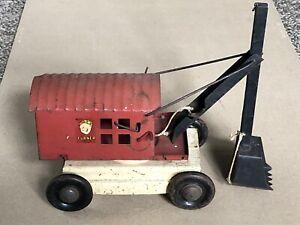 Vintage 1930's Turner Toys Pressed Steel Steam Shovel Truck Earth Mover