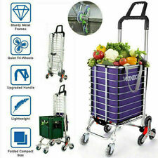Portable Shopping Carts Trolley Foldable Hand Grocery Cart Utility with Bag*