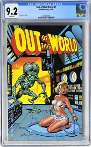 OUT OF THIS WORLD 1 CGC 9.2 MAILBU ETERNITY 1989 BRUCE TIMM BONDAGE COVER