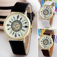 Moda vintage mujer casual reloj pluma cuarzo analógico relojes de pulsera únicos