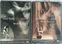2 New York City Ballet workout exercise dance DVD lot 1 and 2 dancing cardio