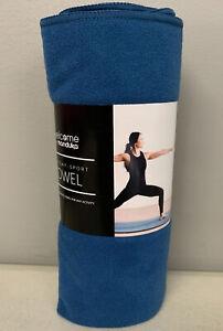 Manduka Welcome Yoga Mat Towel Maldive Blue Sweat Activated FREE SHIPPING