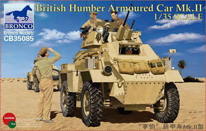 Bronco Model kit CB35085 1/35 British Humber Armoured Car Mk.II