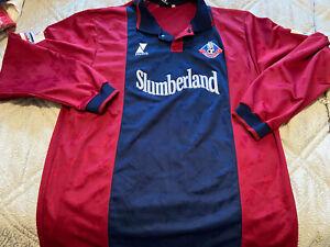 Oldham Athletic player shirt - Jordan Tait - 1999/2000 - Long Sleeved - XL