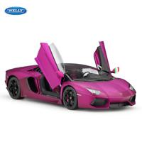 Welly 1:18 Lamborghini Aventador LP700-4 Diecast Car Model New Matte Purple
