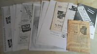 Job lot of vintage shaver/razor reference sheets as shown.