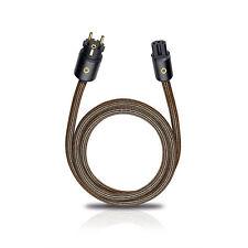 Oehlbach XXL Powercord 75 High-End HiFi Audio Netzkabel 0,75m C13 Schukostecker