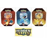 🔥 Pokemon Hidden Fates Tins Set of 3 Factory Sealed Raichu Gyrados Charizard 🔥
