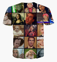 Nicolas Cage T-Shirt [funny unique different cool fresh ironic graffiti hipster]