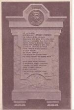 A6579) CASAL CERMELLI (ALESSANDRIA), LAPIDE IN ONORE DI GIOVANNI FRANZINI.