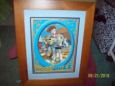 "Toy Story Woody Buzz Framed Lithograph Picture 15x19"" Beautiful Frame All Poster"