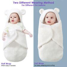 Newborn Baby Girl Boy Swaddle Wrap Infant Blanket Fleece Bedding Sleeping Bag