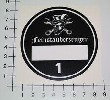 FEINSTAUBPLAKETTE FEINSTAUBERZEUGER Diesel Aufkleber Sticker Totenkopf Umwelt V8