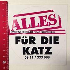 Aufkleber/Sticker: Alles Für Die Katz-Kostenlose Private Kleinanzeige(040316195)