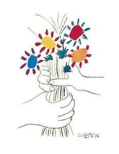 Pablo Picasso Petite Fleurs Hands With Flowers Poster 11 x 14
