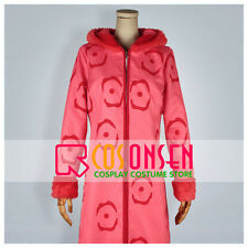 Cosonsen One Piece Punk Hazard Nico Robin Pink Trench Coat Cosplay Costume